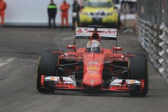 World © Octane Photographic Ltd. Scuderia Ferrari SF15-T– Sebastian Vettel. Thursday 21st May 2015, F1 Practice 2, Monte Carlo, Monaco. Digital Ref: 1274CB7D3702