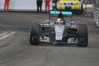 World © Octane Photographic Ltd. Mercedes AMG Petronas F1 W06 Hybrid – Lewis Hamilton. Thursday 21st May 2015, F1 Practice 2, Monte Carlo, Monaco. Digital Ref: 1274CB7D3707