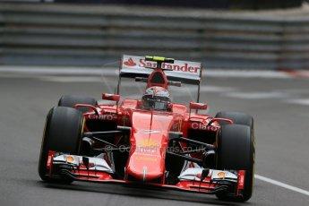 World © Octane Photographic Ltd. Scuderia Ferrari SF15-T– Kimi Raikkonen. Thursday 21st May 2015, F1 Practice 2, Monte Carlo, Monaco. Digital Ref: 1274LB1D3931
