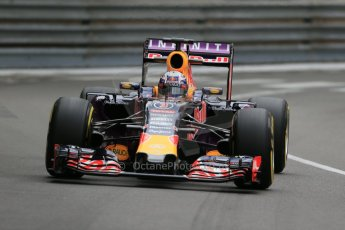 World © Octane Photographic Ltd. Infiniti Red Bull Racing RB11 – Daniel Ricciardo. Thursday 21st May 2015, F1 Practice 2, Monte Carlo, Monaco. Digital Ref: 1274LB1D3956