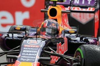 World © Octane Photographic Ltd. Infiniti Red Bull Racing RB11 – Daniel Ricciardo. Thursday 21st May 2015, F1 Practice 2, Monte Carlo, Monaco. Digital Ref: 1274LB1D4115