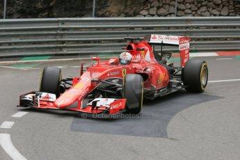 World © Octane Photographic Ltd. Scuderia Ferrari SF15-T– Sebastian Vettel. Thursday 21st May 2015, F1 Practice 2, Monte Carlo, Monaco. Digital Ref: 1274LB5D3035