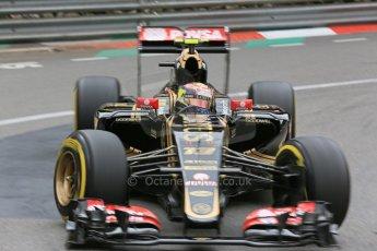 World © Octane Photographic Ltd. Lotus F1 Team E23 Hybrid – Pastor Maldonado. Thursday 21st May 2015, F1 Practice 2, Monte Carlo, Monaco. Digital Ref: 1274LB5D3068