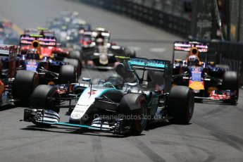 World © Octane Photographic Ltd. Mercedes AMG Petronas F1 W06 Hybrid – Nico Rosberg. Sunday 24th May 2015, F1 Race, Monte Carlo, Monaco. Digital Ref: 1286LB1D8113