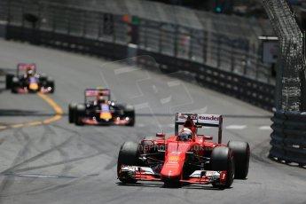 World © Octane Photographic Ltd. Scuderia Ferrari SF15-T– Sebastian Vettel. Sunday 24th May 2015, F1 Race, Monte Carlo, Monaco. Digital Ref: 1286LB1D8163