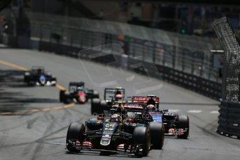 World © Octane Photographic Ltd. Lotus F1 Team E23 Hybrid – Pastor Maldonado. Sunday 24th May 2015, F1 Race, Monte Carlo, Monaco. Digital Ref: 1286LB1D8197