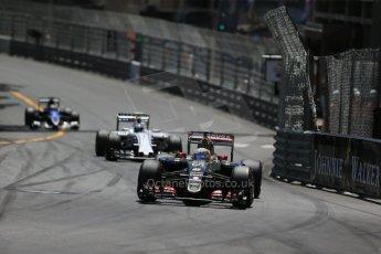 World © Octane Photographic Ltd. Lotus F1 Team E23 Hybrid – Romain Grosjean. Sunday 24th May 2015, F1 Race, Monte Carlo, Monaco. Digital Ref: 1286LB1D8210