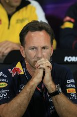 World © Octane Photographic Ltd. Infiniti Red Bull Racing Team Principal – Christian Horner. Thursday 21st May 2015, FIA Team Personnel Press Conference, Monte Carlo, Monaco. Digital Ref: 1276LB1D4291