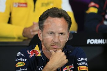World © Octane Photographic Ltd. Infiniti Red Bull Racing Team Principal – Christian Horner. Thursday 21st May 2015, FIA Team Personnel Press Conference, Monte Carlo, Monaco. Digital Ref: 1276LB1D4300