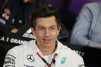 World © Octane Photographic Ltd. Mercedes AMG Petronas Executive Director – Toto Wolff. Thursday 21st May 2015, FIA Team Personnel Press Conference, Monte Carlo, Monaco. Digital Ref: 1276LB1D4313