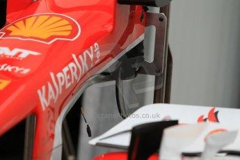 World © Octane Photographic Ltd. Scuderia Ferrari SF15-T– front wing detail. Thursday 21st May 2015, F1 Practice 1, Monte Carlo, Monaco. Digital Ref: 1272CB1L9473