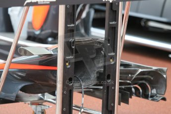 World © Octane Photographic Ltd. McLaren Honda MP4/30 nose detail. Thursday 21st May 2015, F1 Practice 1, Monte Carlo, Monaco. Digital Ref: 1272CB1L9500