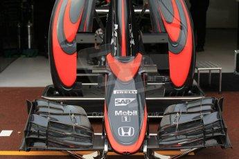 World © Octane Photographic Ltd. McLaren Honda MP4/30 bodywork. Thursday 21st May 2015, F1 Practice 1, Monte Carlo, Monaco. Digital Ref: 1272CB1L9510