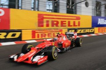 World © Octane Photographic Ltd. Scuderia Ferrari SF15-T– Kimi Raikkonen. Thursday 21st May 2015, F1 Practice 1, Monte Carlo, Monaco. Digital Ref: 1272CB1L9689