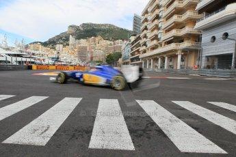 World © Octane Photographic Ltd. Sauber F1 Team C34-Ferrari – Felipe Nasr. Thursday 21st May 2015, F1 Spanish GP Formula 1 Practice 1. Monte Carlo, Monaco. Digital Ref: 1272CB1L9752