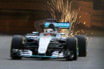 World © Octane Photographic Ltd. Mercedes AMG Petronas F1 W06 Hybrid – Lewis Hamilton. Thursday 21st May 2015, F1 Practice 1, Monte Carlo, Monaco. Digital Ref: 1272CB7D2730