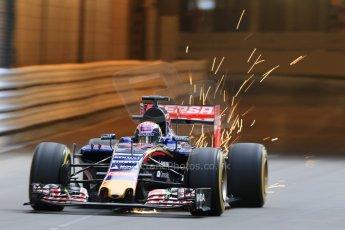 World © Octane Photographic Ltd. Scuderia Toro Rosso STR10 – Max Verstappen. Thursday 21st May 2015, F1 Practice 1, Monte Carlo, Monaco. Digital Ref: 1272CB7D2802