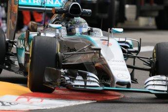 World © Octane Photographic Ltd. Mercedes AMG Petronas F1 W06 Hybrid – Nico Rosberg. Thursday 21st May 2015, F1 Practice 1, Monte Carlo, Monaco. Digital Ref: 1272CB7D2963
