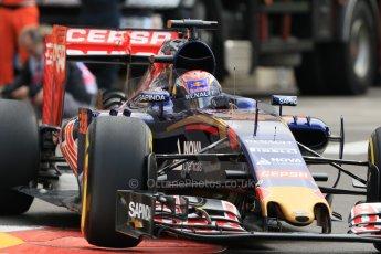 World © Octane Photographic Ltd. Scuderia Toro Rosso STR10 – Max Verstappen. Thursday 21st May 2015, F1 Practice 1, Monte Carlo, Monaco. Digital Ref: 1272CB7D3008