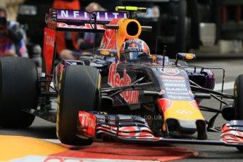 World © Octane Photographic Ltd. Infiniti Red Bull Racing RB11 – Daniil Kvyat. Thursday 21st May 2015, F1 Practice 1, Monte Carlo, Monaco. Digital Ref: 1272CB7D3021