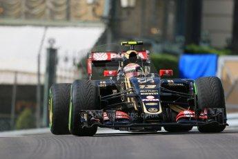 World © Octane Photographic Ltd. Lotus F1 Team E23 Hybrid – Pastor Maldonado. Thursday 21st May 2015, F1 Practice 1, Monte Carlo, Monaco. Digital Ref: 1272LB1D3290