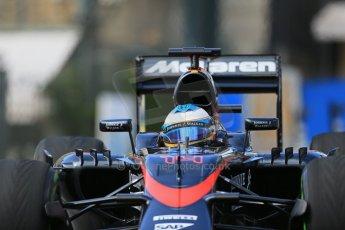 World © Octane Photographic Ltd. McLaren Honda MP4/30 – Fernando Alonso. Thursday 21st May 2015, F1 Practice 1, Monte Carlo, Monaco. Digital Ref: 1272LB1D3334