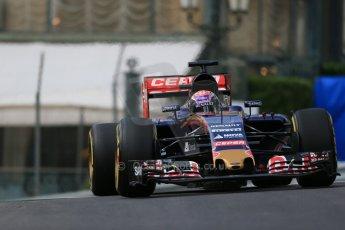 World © Octane Photographic Ltd. Scuderia Toro Rosso STR10 – Max Verstappen. Thursday 21st May 2015, F1 Practice 1, Monte Carlo, Monaco. Digital Ref: 1272LB1D3382