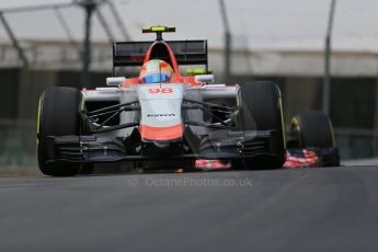 World © Octane Photographic Ltd. Manor Marussia F1 Team MR03 – Roberto Merhi. Thursday 21st May 2015, F1 Practice 1, Monte Carlo, Monaco. Digital Ref: 1272LB1D3417