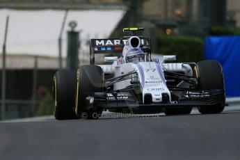 World © Octane Photographic Ltd. Williams Martini Racing FW37 – Valtteri Bottas. Thursday 21st May 2015, F1 Practice 1, Monte Carlo, Monaco. Digital Ref: 1272LB1D3492