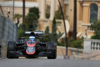 World © Octane Photographic Ltd. McLaren Honda MP4/30 – Fernando Alonso. Thursday 21st 2015, F1 Practice 1, Monte Carlo, Monaco. Digital Ref: 1272LB1D3572