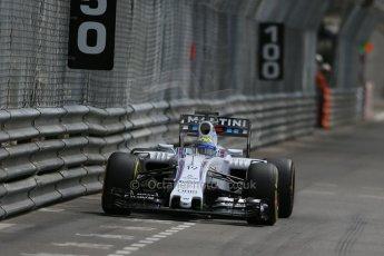 World © Octane Photographic Ltd. Williams Martini Racing FW37 – Felipe Massa. Thursday 21st May 2015, F1 Practice 1, Monte Carlo, Monaco. Digital Ref: 1272LB1D3778