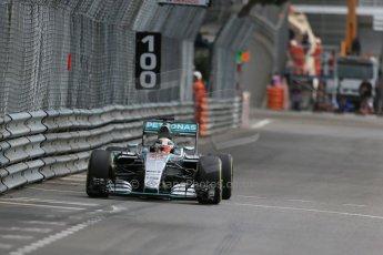 World © Octane Photographic Ltd. Mercedes AMG Petronas F1 W06 Hybrid – Lewis Hamilton. Thursday 21st May 2015, F1 Practice 1, Monte Carlo, Monaco. Digital Ref: 1272LB1D3830