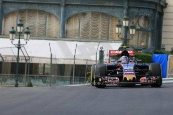 World © Octane Photographic Ltd. Scuderia Toro Rosso STR10 – Carlos Sainz Jnr. Thursday 21st May 2015, F1 Practice 1, Monte Carlo, Monaco. Digital Ref: 1272LB5D2572