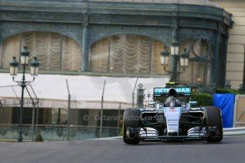 World © Octane Photographic Ltd. Mercedes AMG Petronas F1 W06 Hybrid – Nico Rosberg. Thursday 21st May 2015, F1 Practice 1, Monte Carlo, Monaco. Digital Ref: 1272LB5D2579