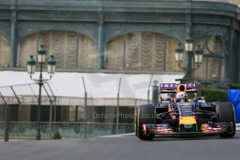 World © Octane Photographic Ltd. Infiniti Red Bull Racing RB11 – Daniel Ricciardo. Thursday 21st May 2015, F1 Practice 1, Monte Carlo, Monaco. Digital Ref: 1272LB5D2586
