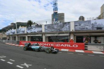 World © Octane Photographic Ltd. Mercedes AMG Petronas F1 W06 Hybrid – Lewis Hamilton. Thursday 21st May 2015, F1 Practice 1, Monte Carlo, Monaco. Digital Ref: 1272LB5D2799