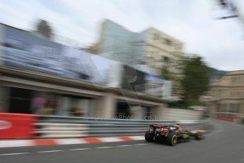 World © Octane Photographic Ltd. Lotus F1 Team E23 Hybrid – Romain Grosjean. Thursday 21st May 2015, F1 Practice 1, Monte Carlo, Monaco. Digital Ref: 1272LB5D2877