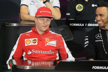 World © Octane Photographic Ltd. Scuderia Ferrari – Kimi Raikkonen. Wednesday 20th May 2015, FIA Drivers' Press Conference, Monte Carlo, Monaco. Digital Ref: 1271CB1L9404