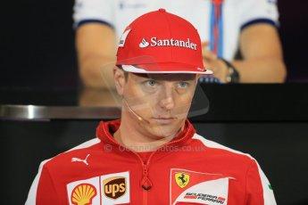 World © Octane Photographic Ltd. Scuderia Ferrari – Kimi Raikkonen. Wednesday 20th May 2015, FIA Drivers' Press Conference, Monte Carlo, Monaco. Digital Ref: 1271LB1D3067