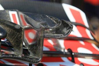 World © Octane Photographic Ltd. Scuderia Toro Rosso STR10 front wing detail. Wednesday 20th May 2015, F1 Pitlane, Monte Carlo, Monaco. Digital Ref:  1270CB1L9120