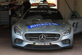 World © Octane Photographic Ltd. Mercedes AMG GTs Safety Car. Wednesday 20th May 2015, F1 Pitlane, Monte Carlo, Monaco. Digital Ref:  1270CB1L9200