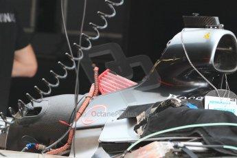 World © Octane Photographic Ltd. Mercedes AMG Petronas F1 W06 Hybrid. Wednesday 20th May 2015, F1 Pitlane, Monte Carlo, Monaco. Digital Ref: 1270CB7D2432