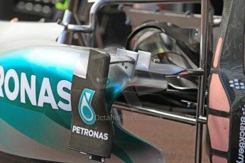 World © Octane Photographic Ltd. Mercedes AMG Petronas F1 W06 Hybrid. Wednesday 20th May 2015, F1 Pitlane, Monte Carlo, Monaco. Digital Ref: 1270CB7D2438