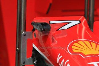 World © Octane Photographic Ltd. Scuderia Ferrari SF15-T camera mount detail. Wednesday 20th May 2015, F1 Pitlane, Monte Carlo, Monaco. Digital Ref: 1270CB7D2449
