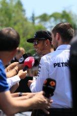 World © Octane Photographic Ltd. FIA Drivers' Press Conference video call. Thursday 4th June 2015, F1 Canadian GP, Circuit Gilles Villeneuve, Montreal, Canada. Mercedes AMG Petronas – Lewis Hamilton. Digital Ref: 1289CB7D8478