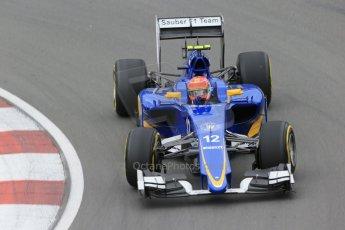 World © Octane Photographic Ltd. Sauber F1 Team C34-Ferrari – Felipe Nasr. Friday 5th June 2015, F1 Canadian GP Practice 2 Circuit Gilles Villeneuve, Montreal, Canada. Digital Ref: 1292LB1D0026