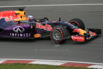 World © Octane Photographic Ltd. Infiniti Red Bull Racing RB11 – Daniel Ricciardo. Friday 5th June 2015, F1 Canadian GP Practice 2, Circuit Gilles Villeneuve, Montreal, Canada. Digital Ref: 1292LB1D0170