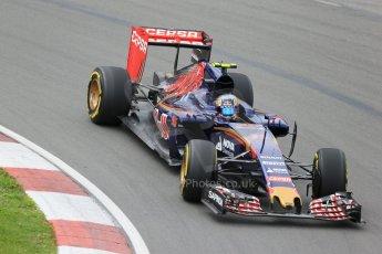 World © Octane Photographic Ltd. Scuderia Toro Rosso STR10 – Carlos Sainz Jnr. Friday 5th June 2015, F1 Canadian GP Practice 2, Circuit Gilles Villeneuve, Montreal, Canada. Digital Ref: 1292LB1D9808