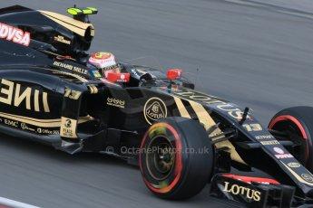 World © Octane Photographic Ltd. Lotus F1 Team E23 Hybrid – Pastor Maldonado. Friday 5th June 2015, F1 Canadian GP Practice 2, Circuit Gilles Villeneuve, Montreal, Canada. Digital Ref: 1292LB7D0177