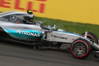 World © Octane Photographic Ltd. Mercedes AMG Petronas F1 W06 Hybrid – Nico Rosberg. Friday 5th June 2015, F1 Practice 2, Circuit Gilles Villeneuve, Montreal, Canada. Digital Ref: 1292LB7D0236